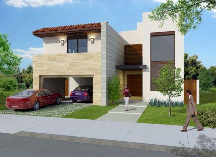 Fachadas de casas con balcones fachadas pinterest modern - Fachadas para terrazas ...