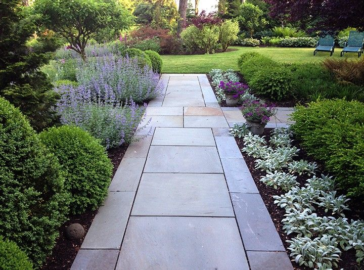 Walk In Garden Box: Boxwoods, Lilacs And Perennials Line The Walk While The