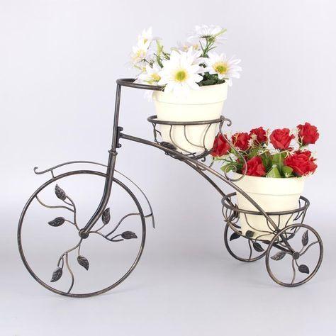 Macetero jardins pinterest serralheria e jardins - Bicicleta macetero ...