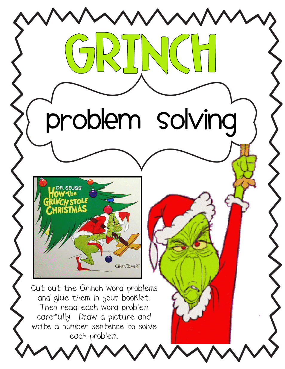 Grinch Proble Solving Activity Pdf Christmas Classroom Holiday Lessons Christmas Lesson