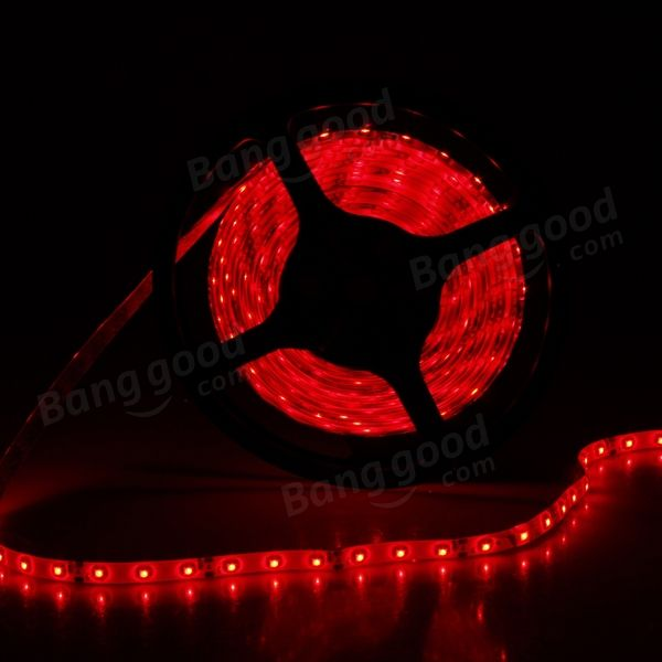 Red led strip lights 5m 300 led smd 3528 waterproof 12v dc light red led strip lights 5m 300 led smd 3528 waterproof 12v dc aloadofball Gallery