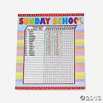 Sunday School Attendance Sticker Charts School attendance, Sticker