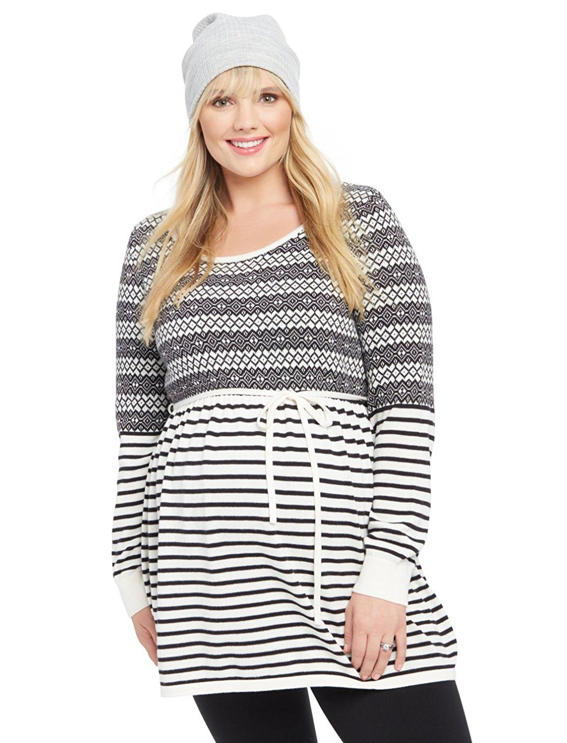 2eb29c20adfdb Motherhood Plus Size Fairisle Babydoll Maternity Sweater >>> Don't get left  behind, see this great product : Plus size maternity