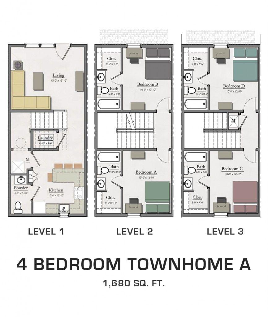 Student Housing in East Lansing Floor plans, House plans