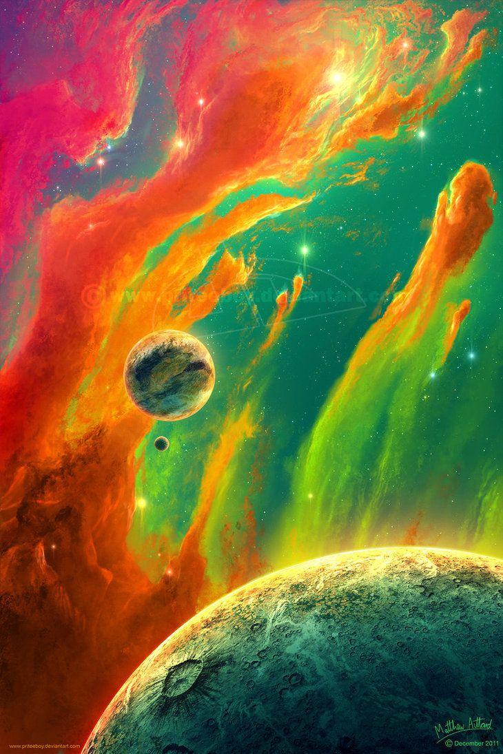 Color art digital - Digital Art Painted Sky By Priteeboy