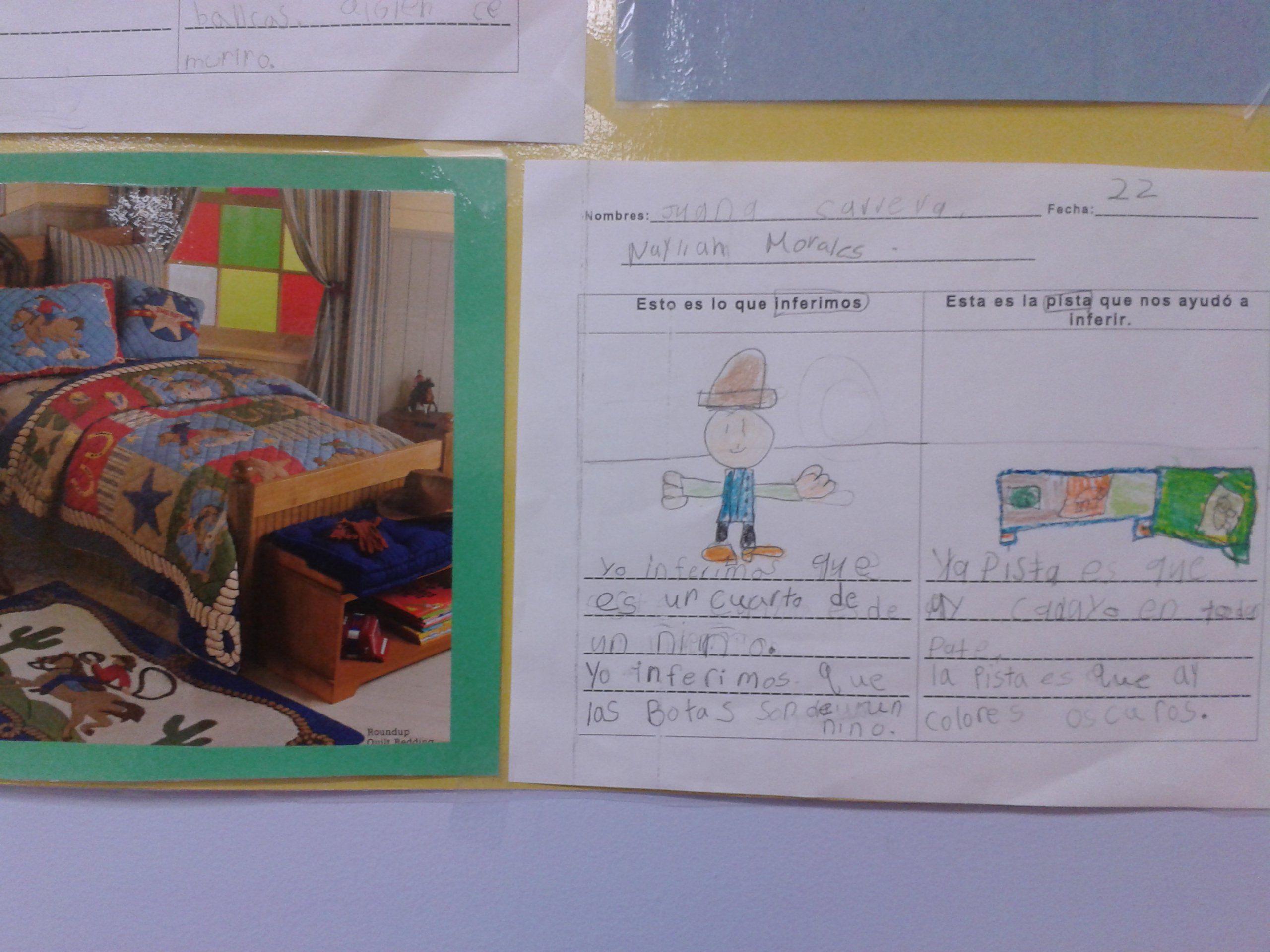 work sample in Spanish inferring unit | Inferring | Reading