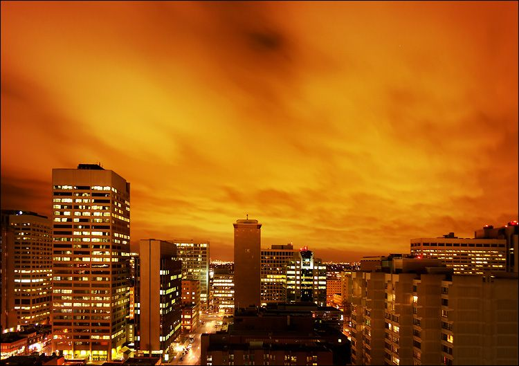 Orange Clouds Canon 300d Kit Lens 10s F4 5 Iso 100 Tripod Orange City Skyline Orange Sky
