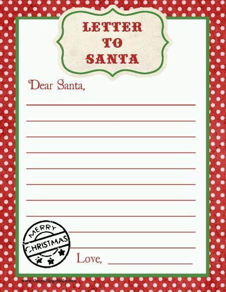 Letter to santa free printable download kids party craft idea letter to santa free printable download kids party craft idea spiritdancerdesigns Choice Image