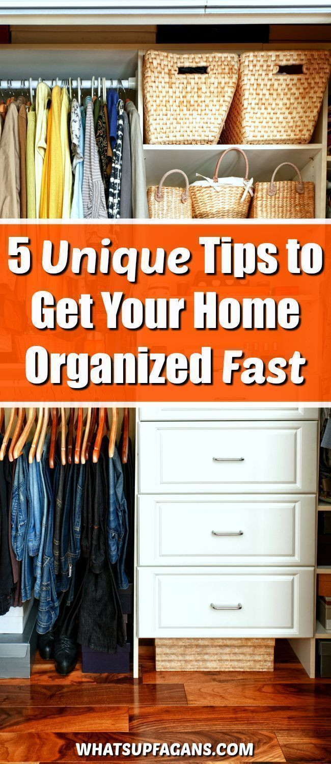 Get organized at home with these unique organization tips