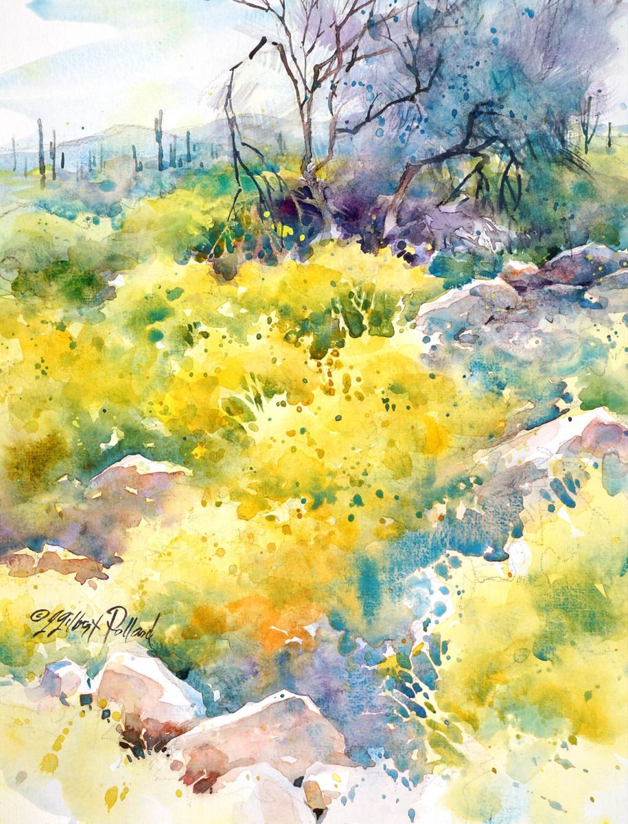 Watercolor Unleashed Paint The Sonoran Desert Landscape In