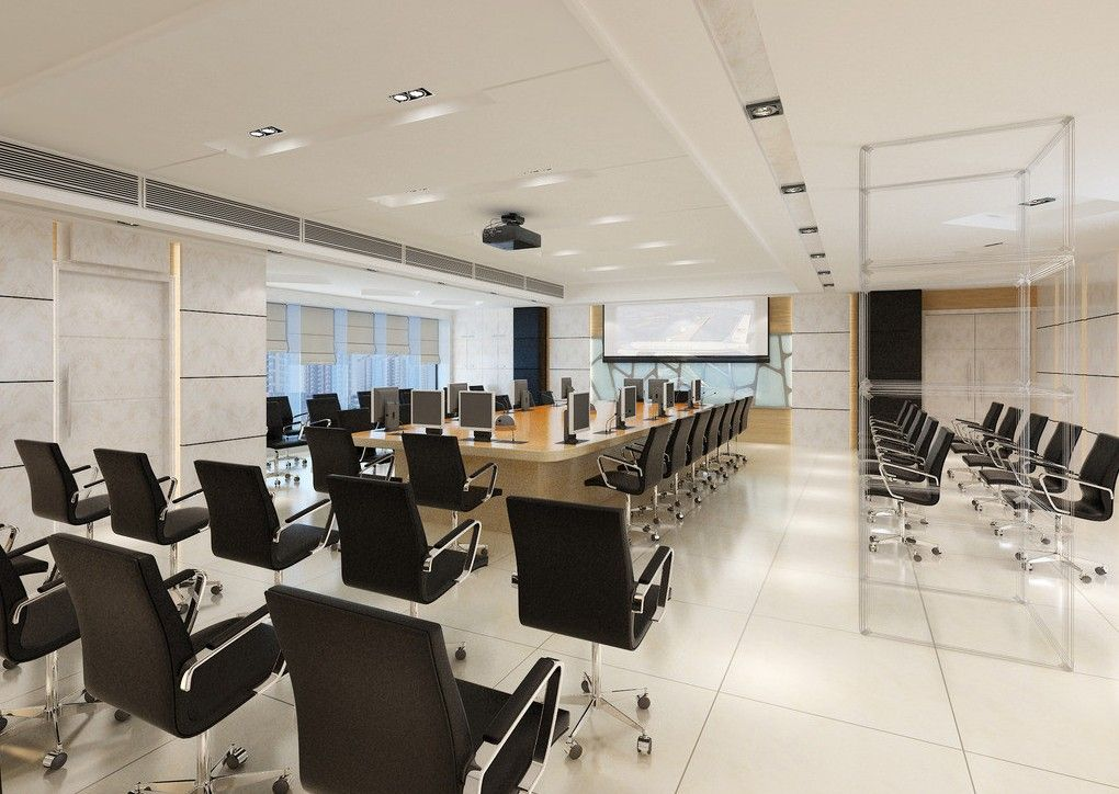 Large White Conference Room Design Office Design Meeting Rooms - Large white conference table