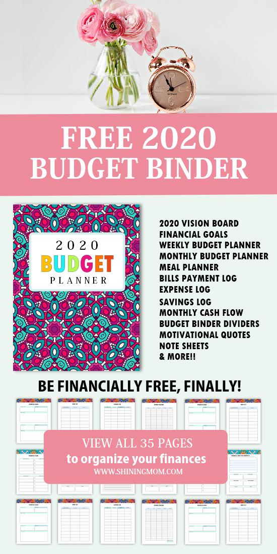 free printable budget planner 2020  35 budget templates