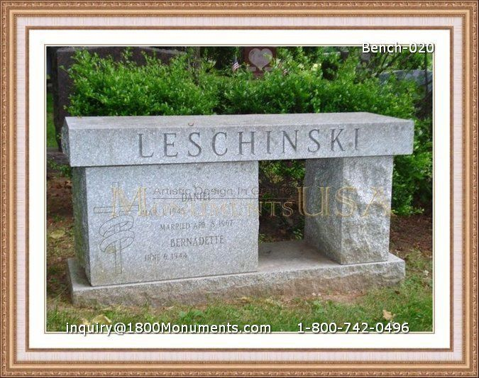 Bench Headstone Cost Bench Outdoor Decor Stone