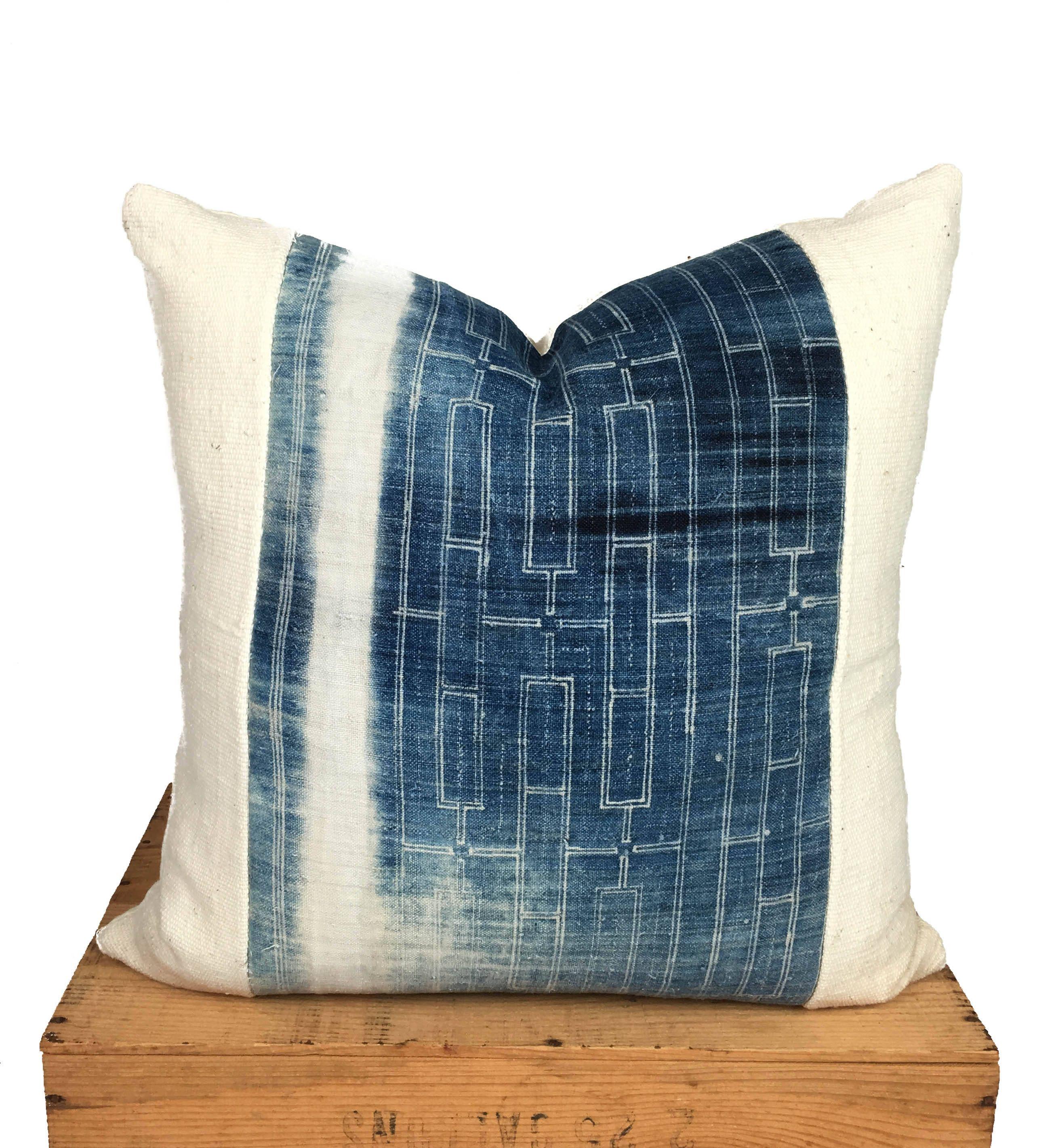 inch vintage indigo hmong pillow cover İndigo blue pinterest