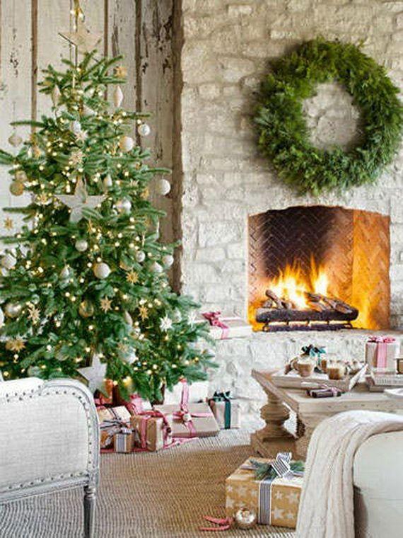 60 Elegant Christmas Country Living Room Decor Ideas Christmas
