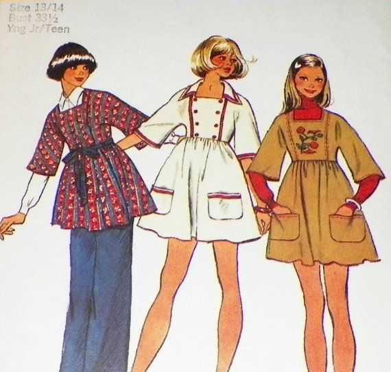 Peasant Sewing Pattern  Mod Boho  Vintage by hookandneedlepattern, $8.00