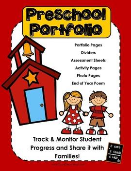 Preschool Portfolio With Work Samples My Tpt Products Pinterest