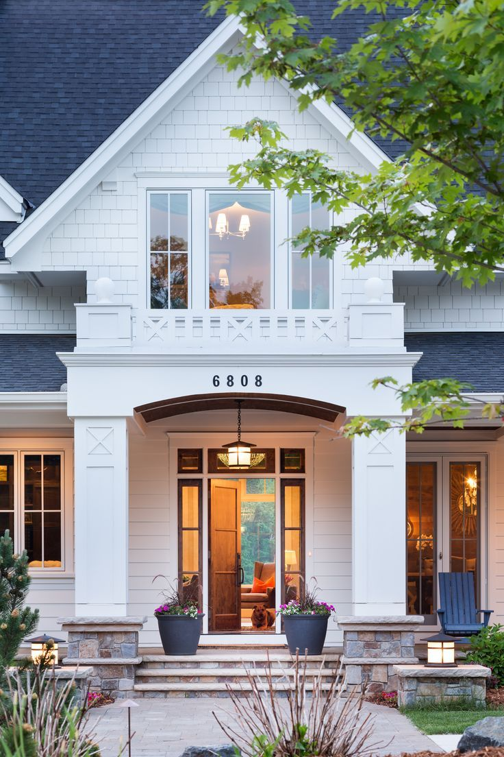 Beautiful entry on killer white house e x t e r i o r s - Beautiful front designs of homes ...