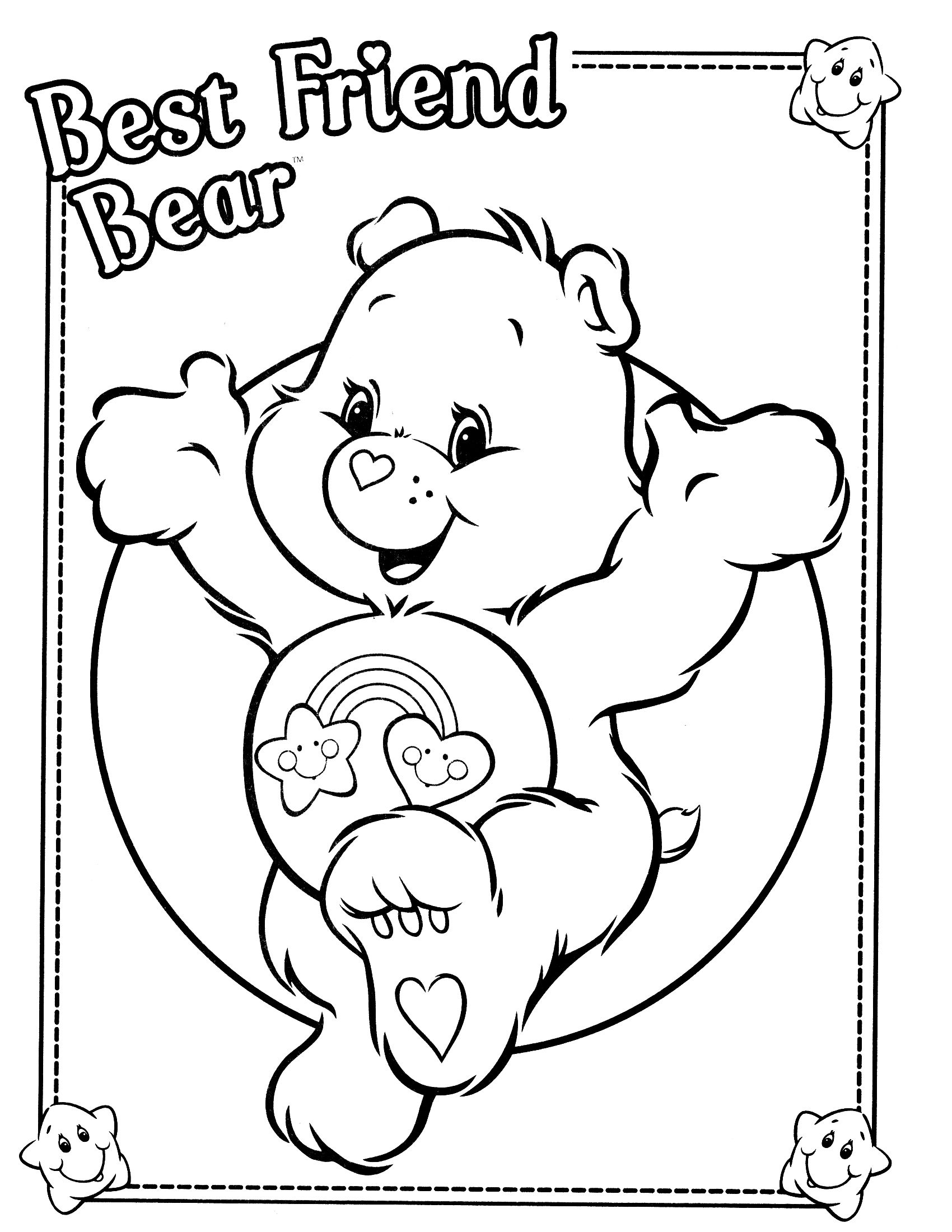 Care Bears Coloring Page Bear Coloring Pages Coloring Pages