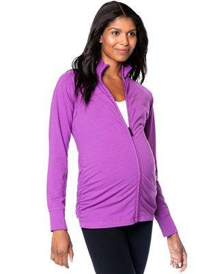3429b54a3a Motherhood Maternity Zip-Up Ruched Active Jacket