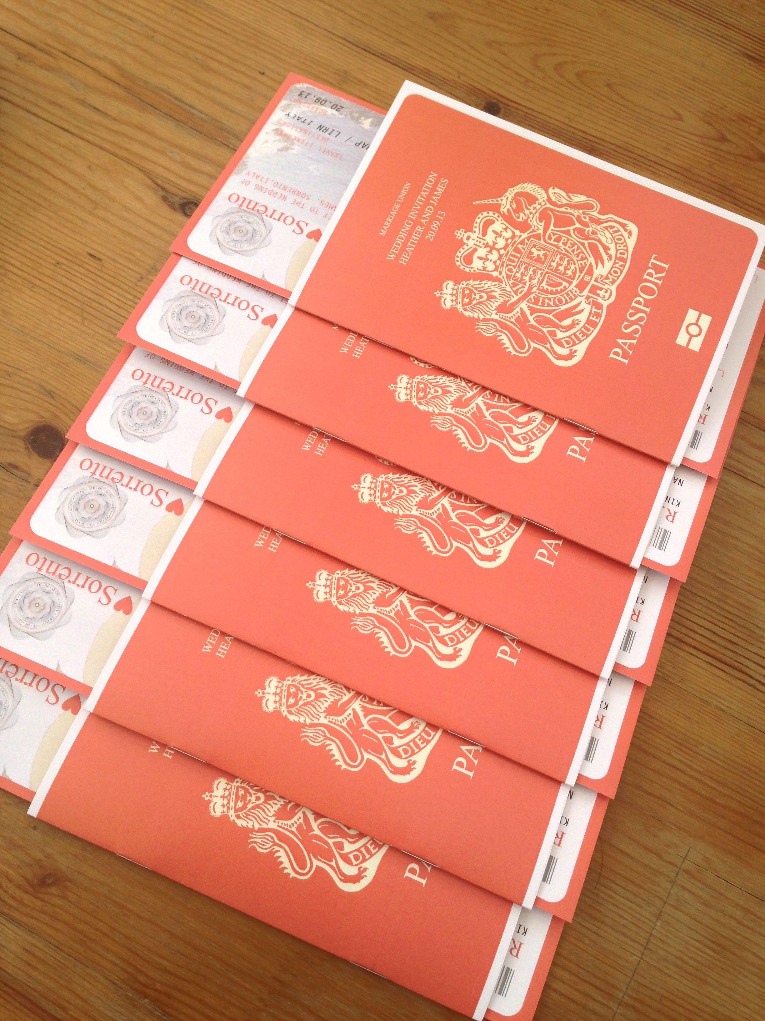 Passport Wedding Invitations / Travel Wedding / Wedding Abroad ...