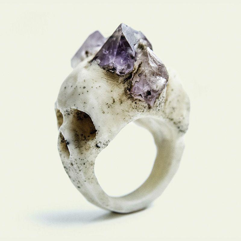 Bifacial Skull ring | Macabre Gadgets fashion Jewelry