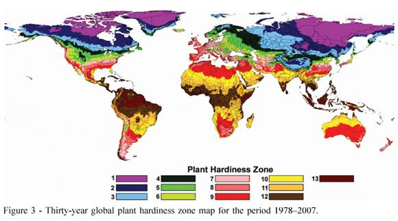 Temperate Climate Permaculture Plant Hardiness Zones Maps For The - Us planting zones map