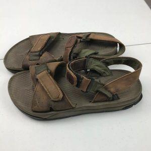 Frye Riverton Mens Brown Leather Sandals Sz 9M