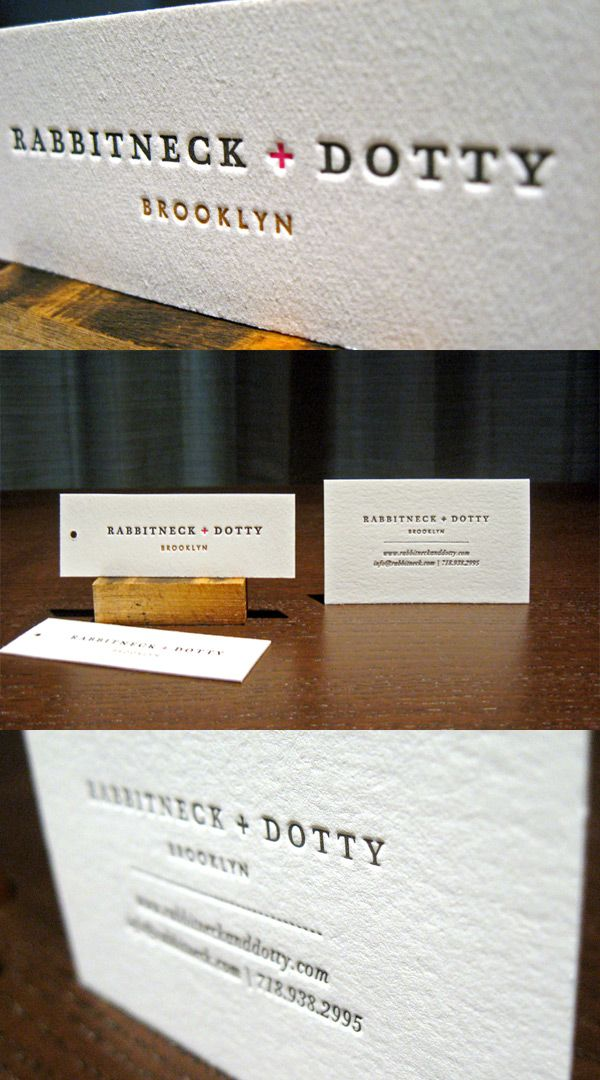 Rabbitneck dottys letterpress business card tags design rabbitneck dottys letterpress business card tags reheart Gallery