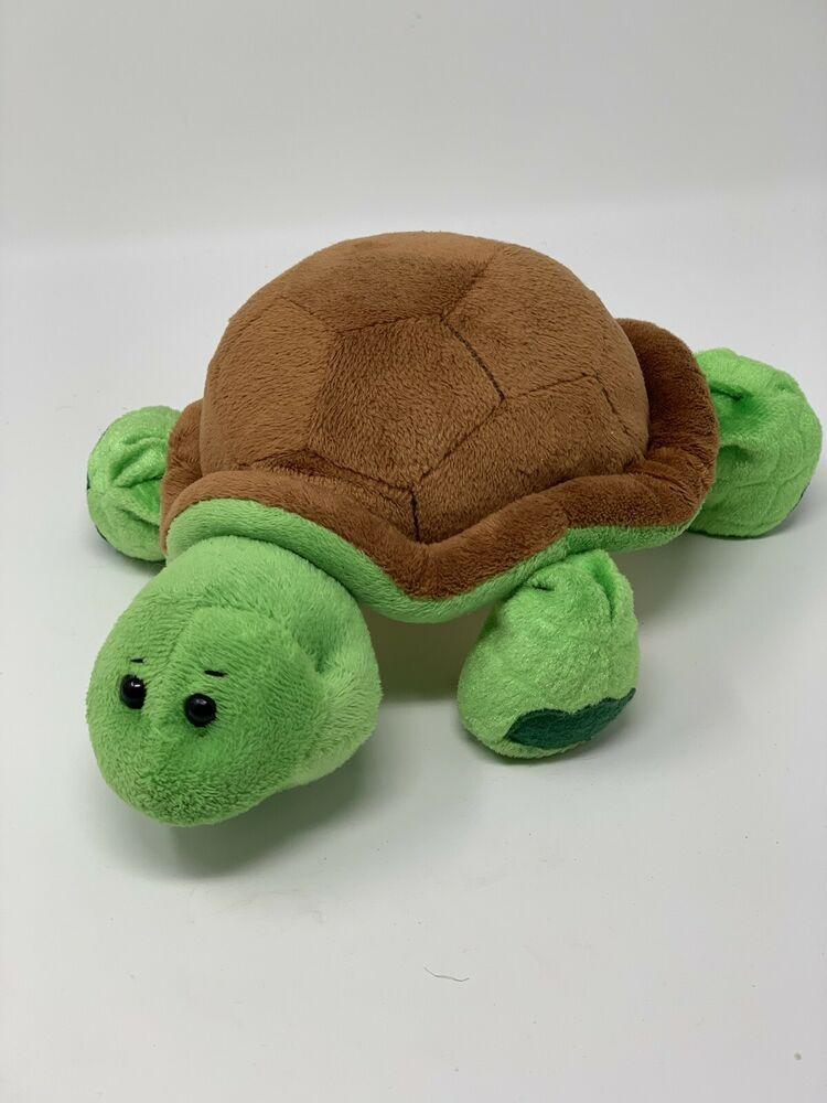 Webkinz Green Turtle Brown Shell Plush Beanbag Stuffed 9