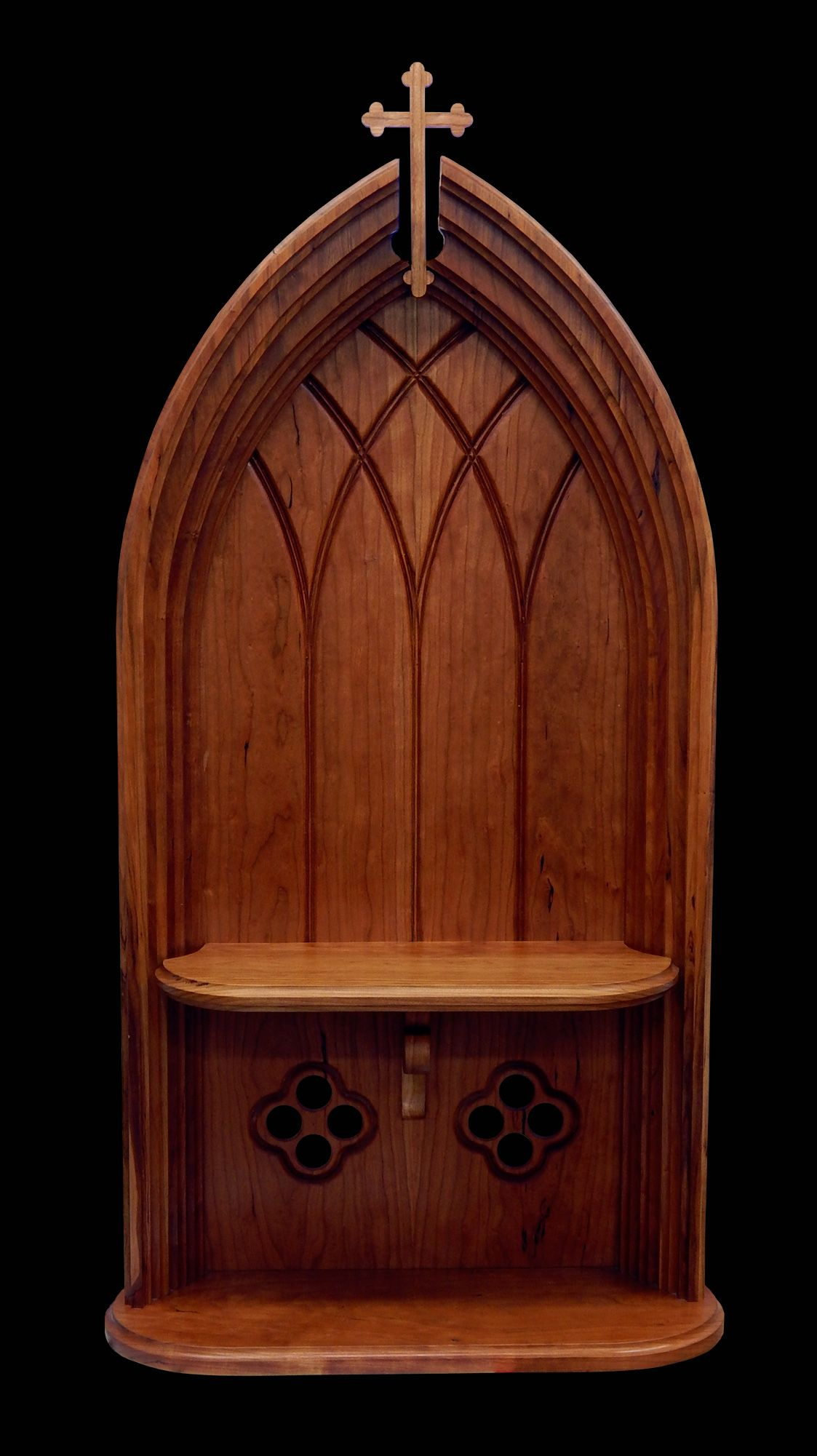 this home altar is freestanding and can be placed on a shelf or bureau a holy water font is an. Black Bedroom Furniture Sets. Home Design Ideas