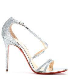 Glitter Finished Sandals 100 Christian Gwynitta Leather Louboutin lKu1JT35Fc