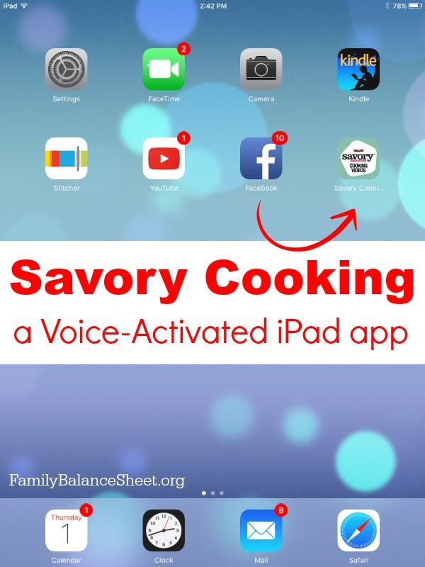Savory Cooking App for your iPad Kitchen tools, Cooking and The o\u0027jays
