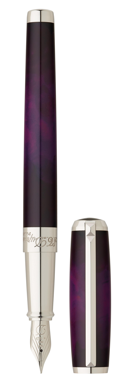 St Dupont S Atelier Line D Fountain Pen In Purple Lacquer