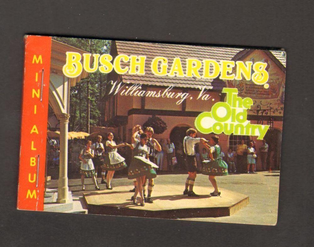 Undated Souvenir 8 Miniature Photographs Busch Gardens Williamsburg ...