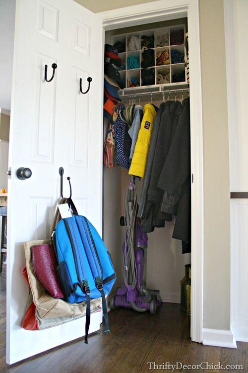 Five Things We Have Too Many Of Closet Door Storage Closet Small Bedroom Coat Closet Organization