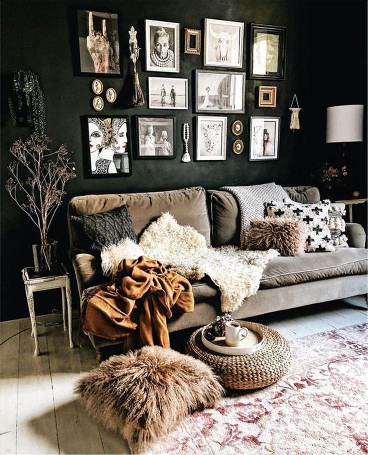 40 + gemütliche rustikale Wohnzimmer Dekor Ideen – #Cozy