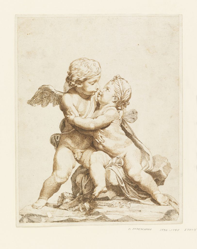 Drawing Two Cupids Kissing 1750 90 Angel Drawing Art Angel Art