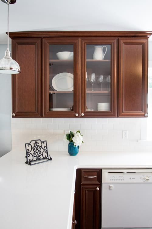 BERTHOUD KITCHEN UPDATE CLEAN WHITE COUNTER TOPS CABINET ...