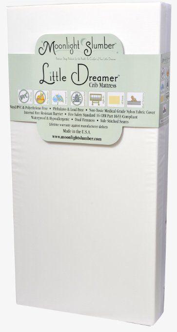Amazon Com Moonlight Slumber Little Dreamer Dual Firmness All Foam Crib Mattress Baby Best Crib Mattress Crib Mattress Organic Crib Mattress