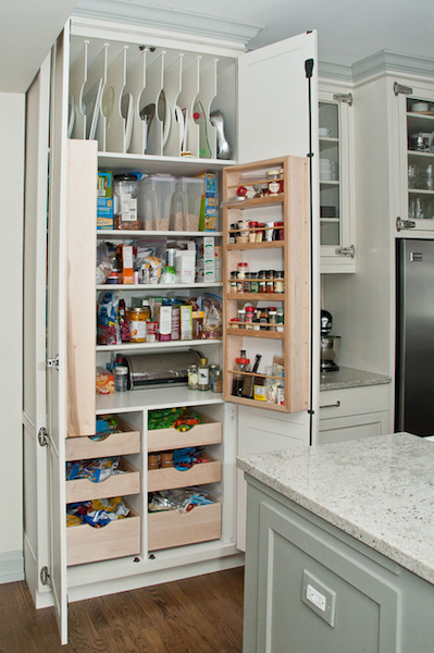 Like The Section For Baking Trays On Top Kitchen Pantry Design