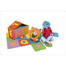 "Large Play Area Foam Rubber Puzzle Floor Mat Removable Letters by Brooklyn Lollipop. $19.79. Each piece is approximatley 12"" x 12"" to equal 36 sq ft. All foam floor mat for hours of fun. Alpha and numeric removable/popout numbers and letters. Includes 36 durable foam squares 72 pcs total. Let your little one learn numbers and letters through play with the 36-Piece Alphabet and Numbers Mat, which features 36 colorful 12"" x 12"" foam tiles, including 26 pop-out letters and 10 ..."