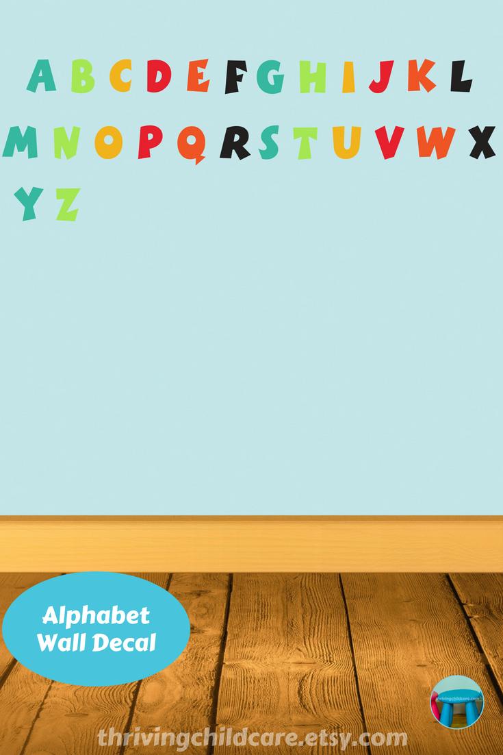 Abc Alphabet Wall Decal Set Sticker Abc Alphabet Decal Set