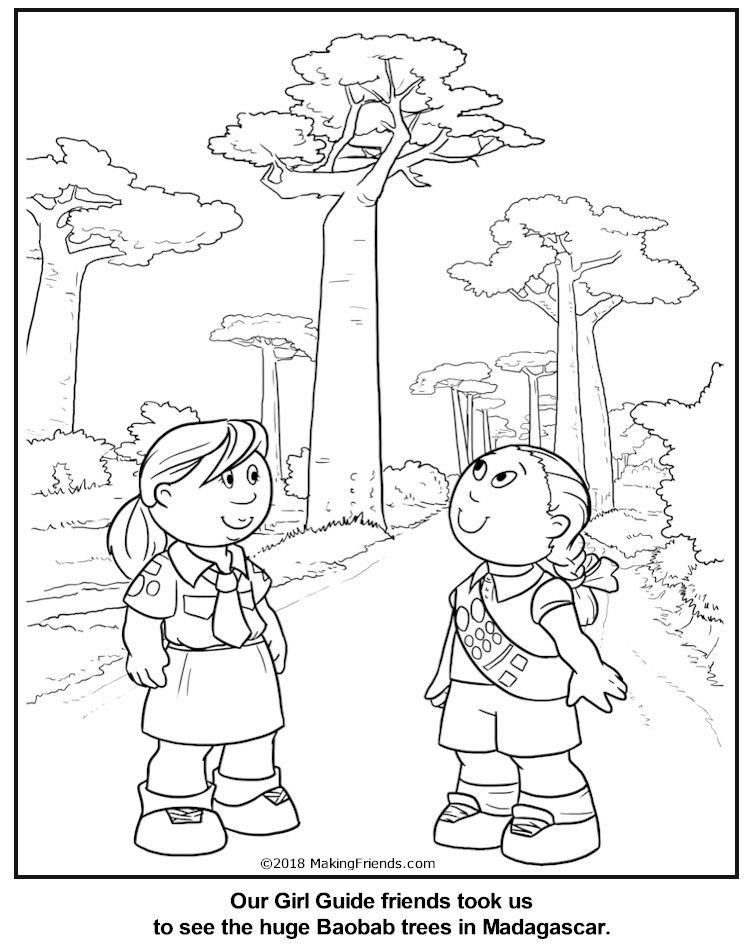 MakingFriends Malagasy Guide Coloring Page for Madagascar