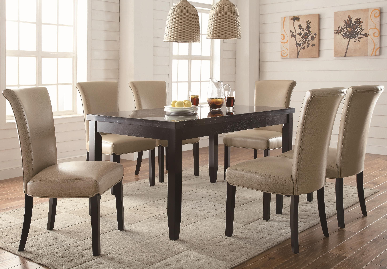 Coaster Newbridge 7 Piece Dining Table Chair Set Underground