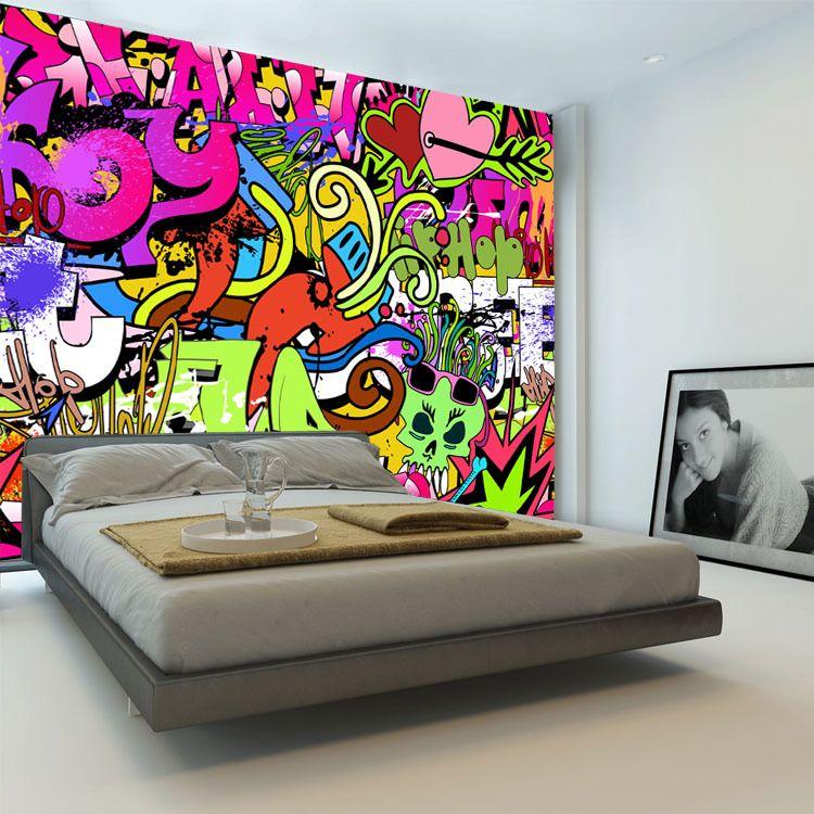 30 Dream Interior Design Teenage Girl Bedroom Ideas | Graffiti ...