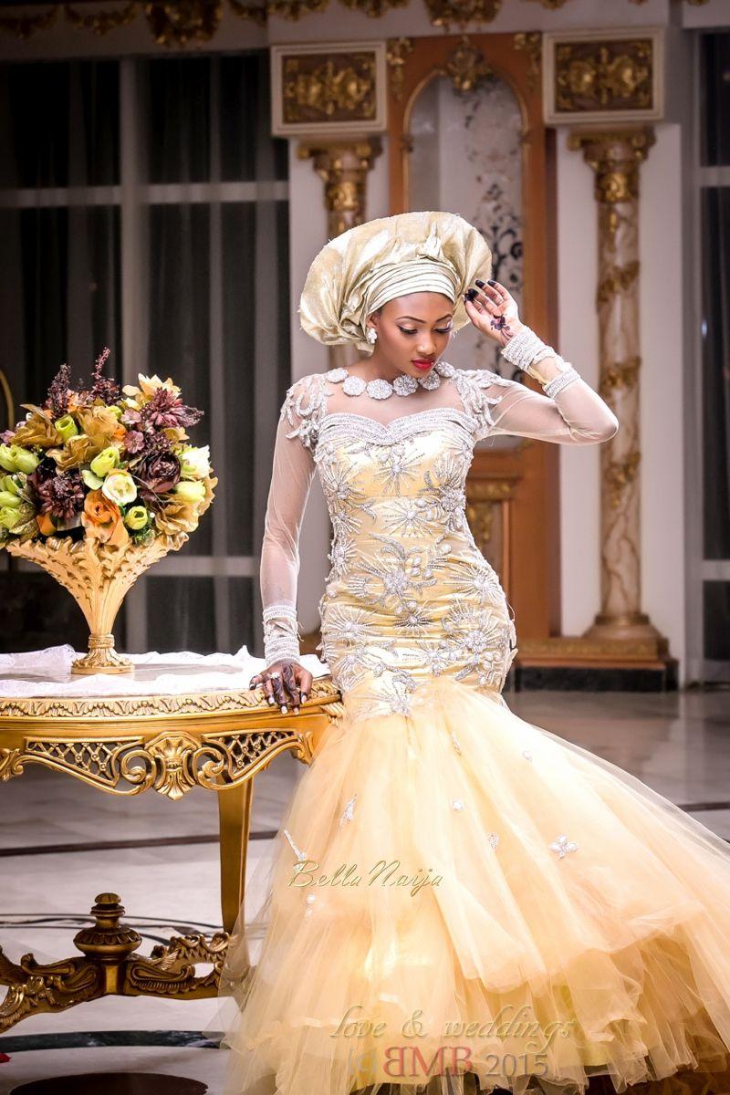 Bellanaija Bride Amina Stunning In A Gold Jewel Embellished Dress Amina And Nasir S Bm African Traditional Wedding African Wedding Nigerian Wedding Dress