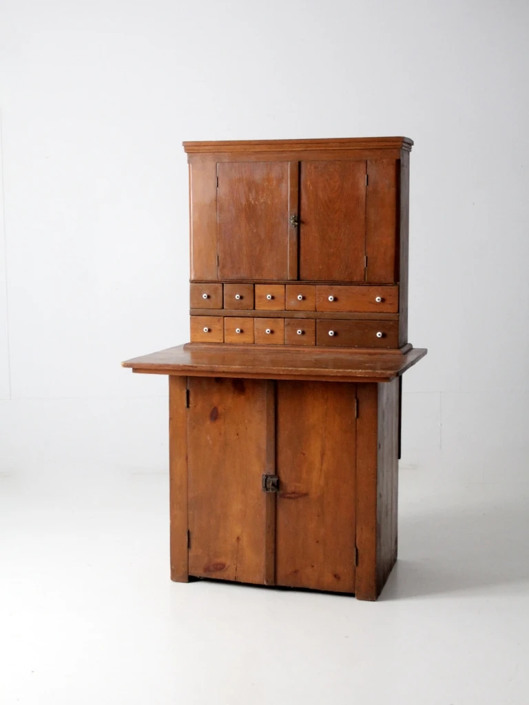 Antique Wooden Pantry Cabinet In 2020 Wooden Pantry Pantry Cabinet Style Pantry