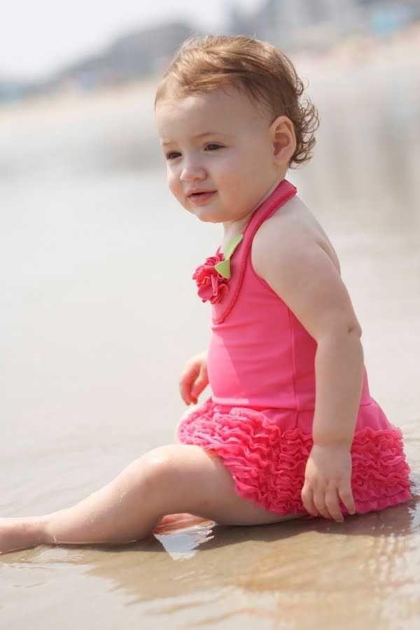traje-bano-bebes-16 | Trajes de baño para Niñas y niños | Pinterest ...
