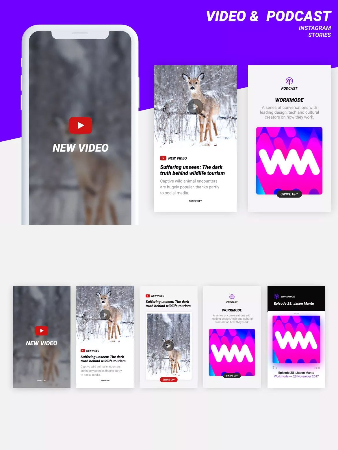 Video Podcast Instagram Stories Templates With Images Instagram Story Template Story Template Instagram Story